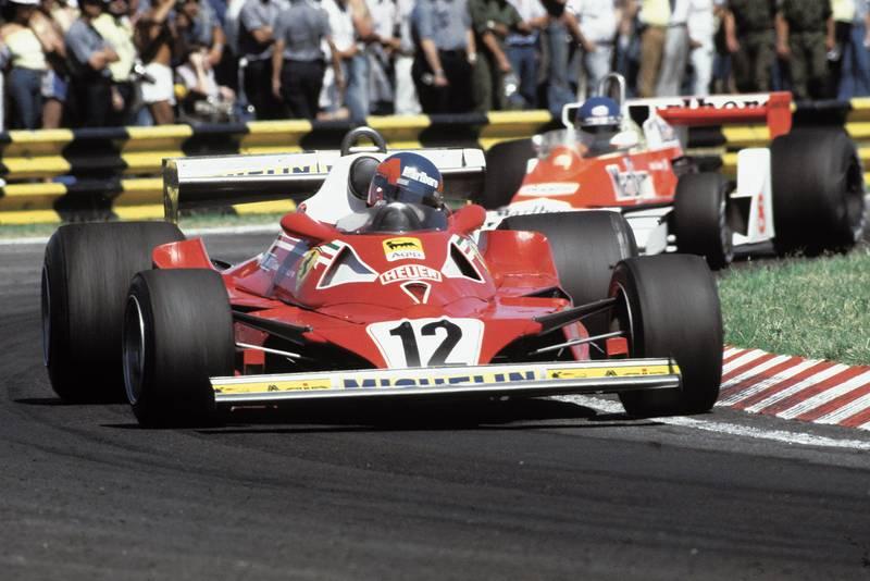 Gilles Villeneuve (Ferrari) at the 1978 Argentine Grand Prix, Buenos Aires.