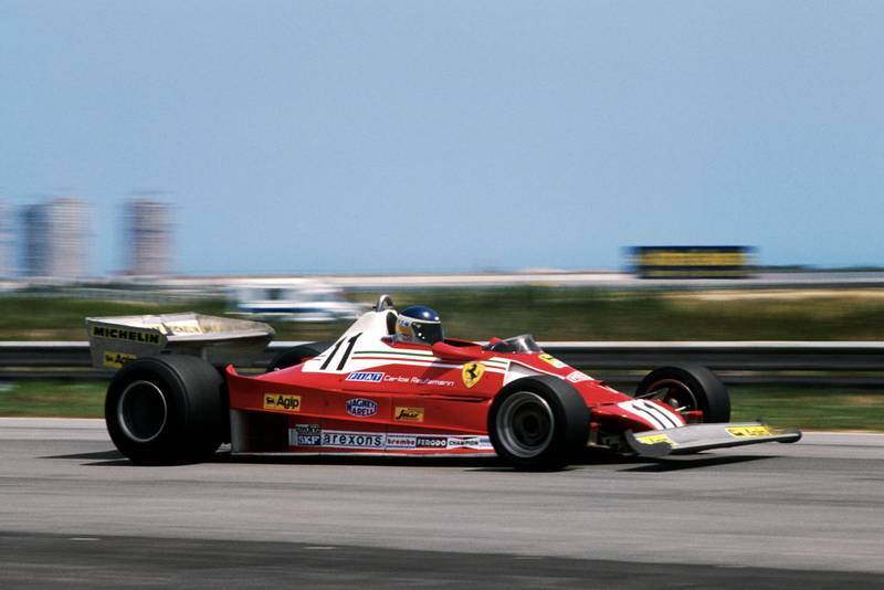 Carlos Reutemann (Ferrari) driving at the 1978 Brazilian Grand Prix, Jacarepagua