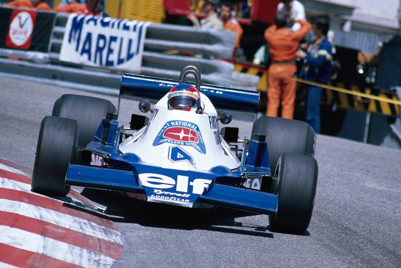 Patrick Depailler (Tyrrell) driving at the 1978 Monaco Grand Prix.