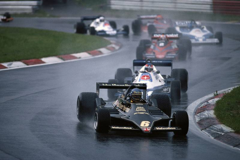 Ronnie Peterson leads the pack at the 1978 Austrian Grand Prix, Österreichring