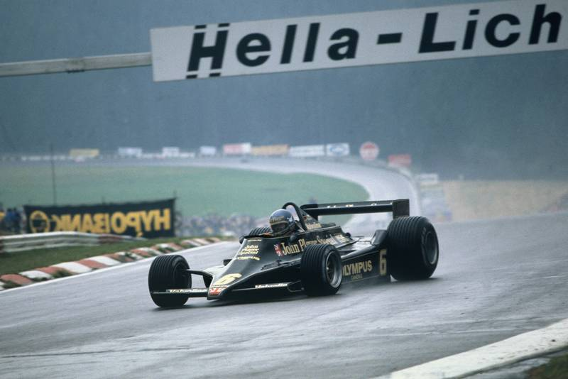 Ronnie Peterson (Lotus) at the 1978 Austrian Grand Prix, Österreichring