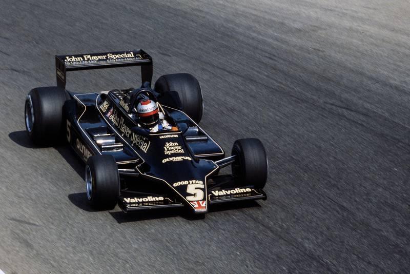 Mario Andretti (Lotus) driving at the 1978 Italian Grand Prix, Monza.