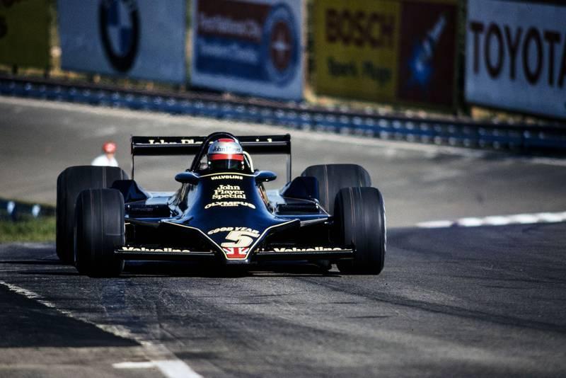 Mario Andretti (Lotus) at the 1978 United States Grand Prix East, Watkins Glen.