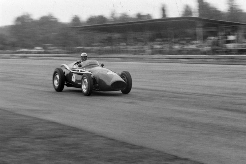 Ron Flockhart on his way to 3rd place at the 1956 Italian Grand Prix, Monza.