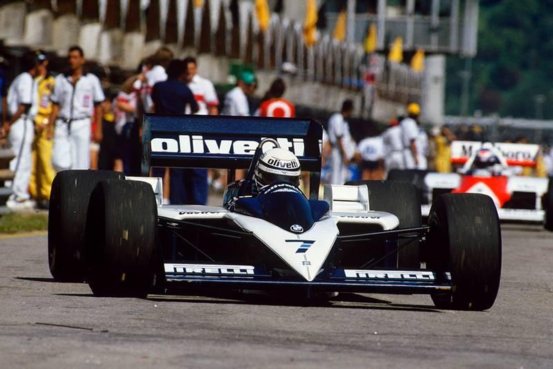 Riccardo Patrese retired in his Brabham BT55-BMW.