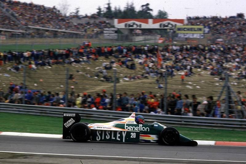 Benetton driver Gerhard Berger.