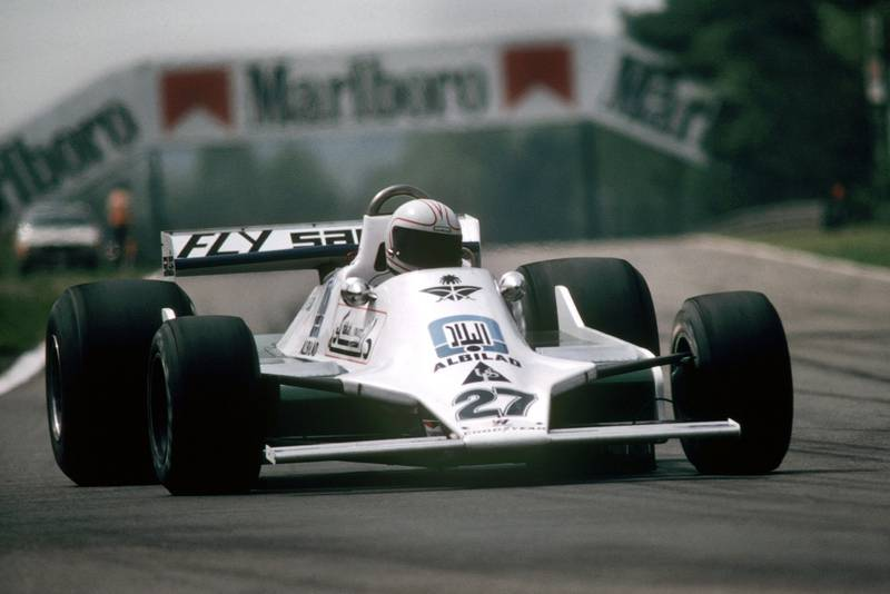 Alan Jones (WIlliams) at the 1979 Belgian Grand Prix, Zolder.
