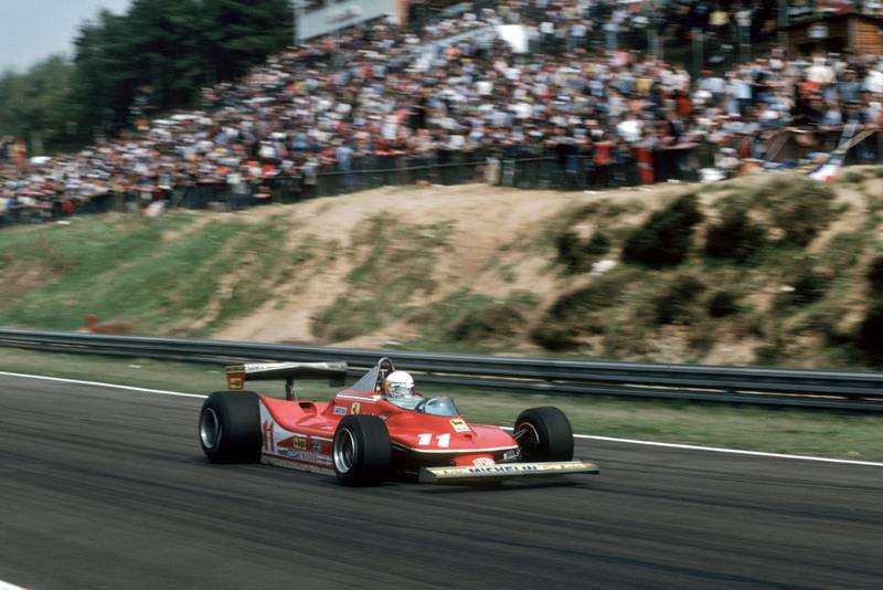 Jody Scheckter (Ferrari) at the 1979 Belgian Grand Prix, Zolder.
