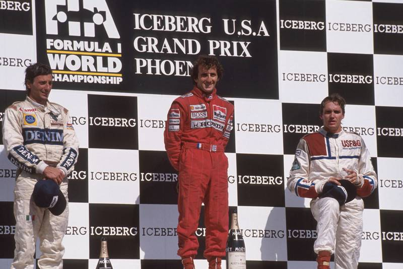 1989 US GP podium