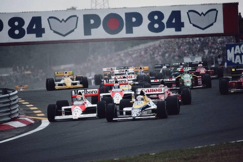 1989 HUN GP start