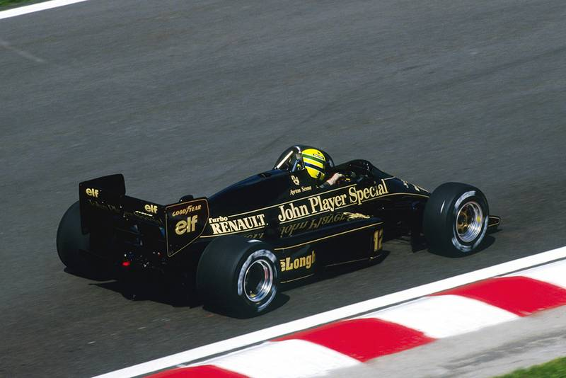 Ayrton Senna driving a Lotus 98T finished in second place.