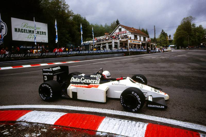 Martin Brundle in his Tyrrell 015.