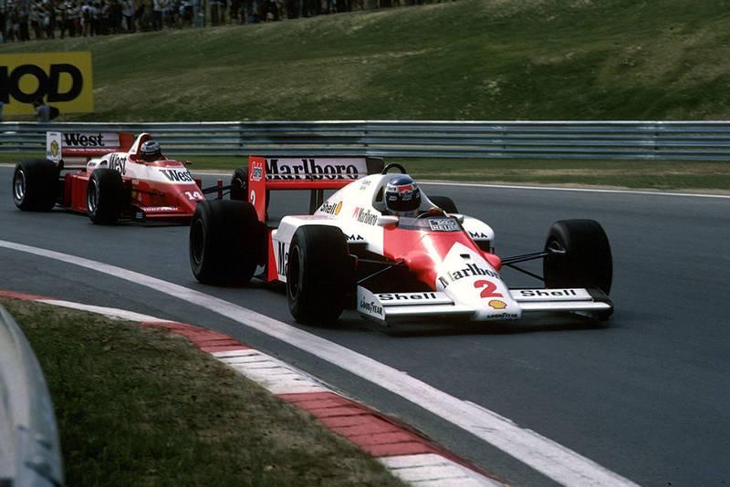 Keke Rosberg did not finish on his McLaren MP4/2C.
