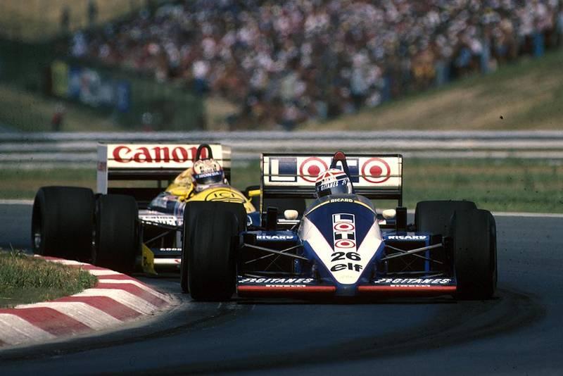 Phillipe Alliot driving in a Ligier JS27.