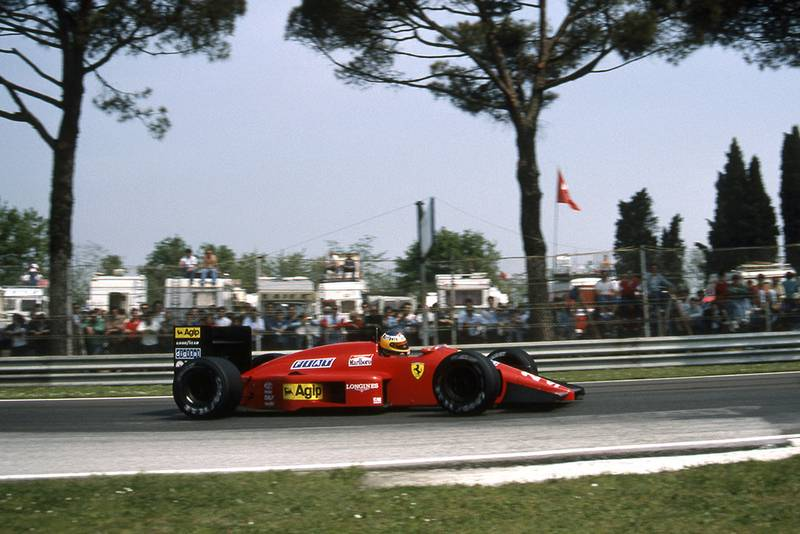 Michele Alboreto in his Ferrari F1-87.