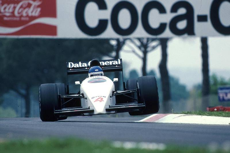 Phillipe Streiff driving his Tyrrell 016.