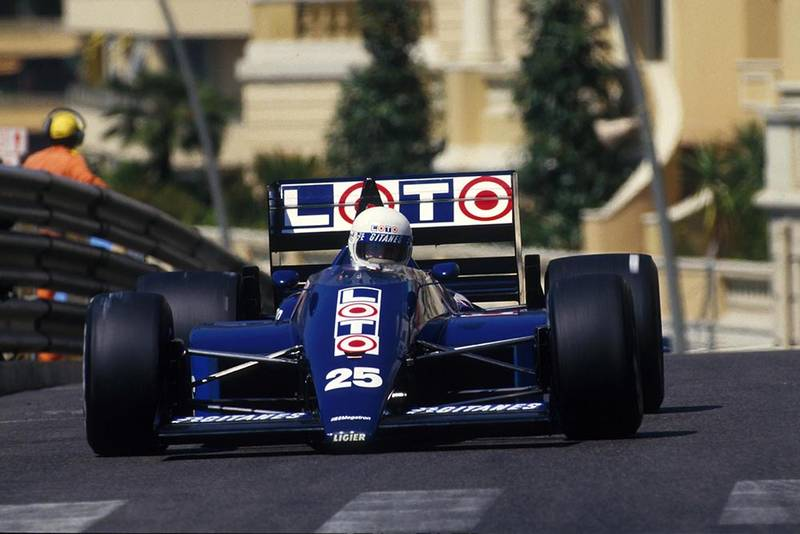 Rene Arnoux in his Ligier JS29B.