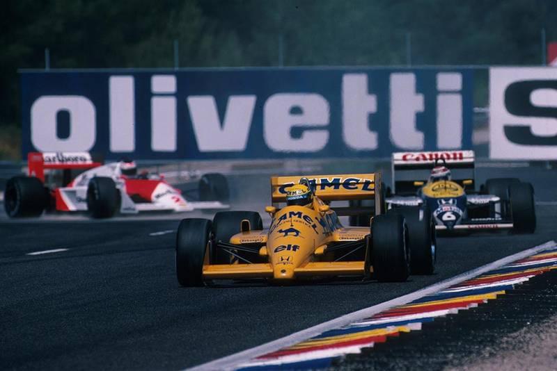 Ayrton Senna at the wheel of his Lotus 99T.