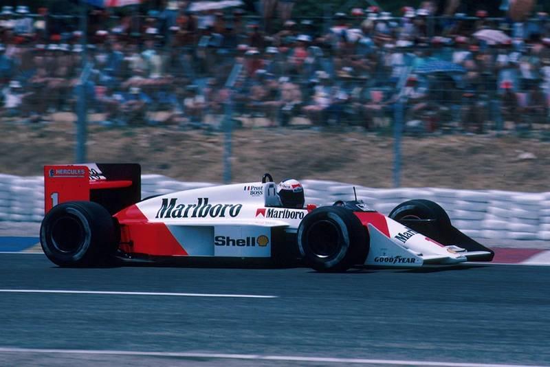 Alain Prost driving his McLaren MP4/3.