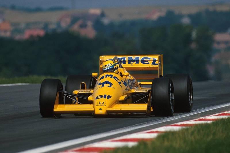 2nd place Ayrton Senna in his Lotus 99T.