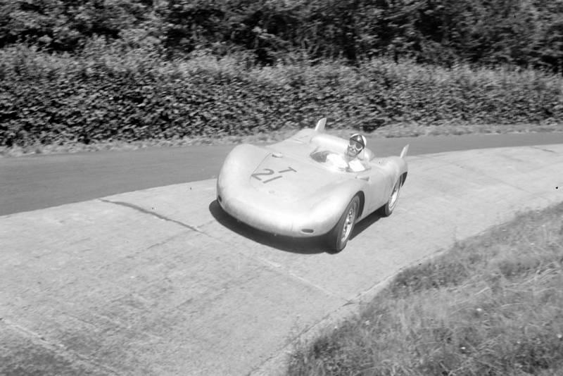 Edgar Barth in his Porsche 550RS at the 1957 German Grand Prix, Nurburgring