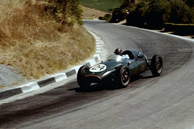 Jack Brabham (Cooper T43-Climax) at the 1957 Pescara Grand Prix.