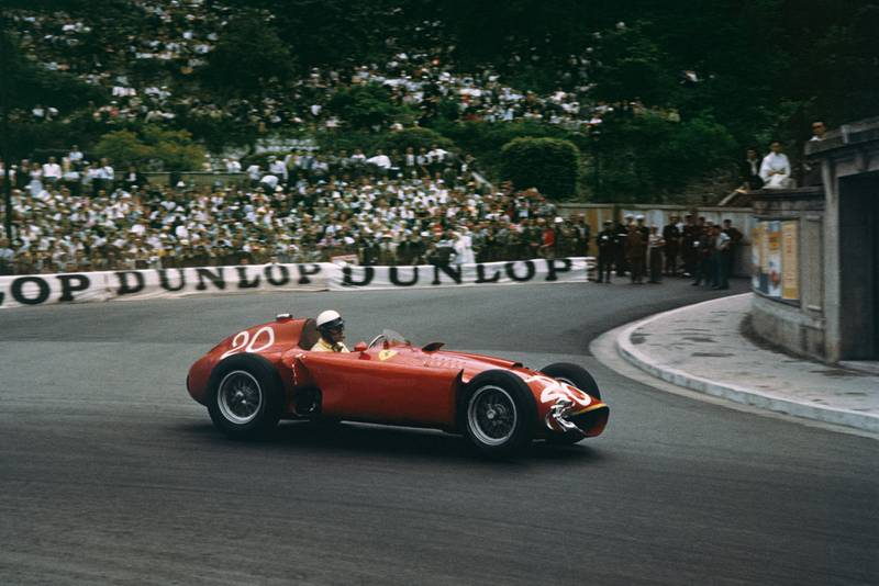 Castellotti rounds the final turn