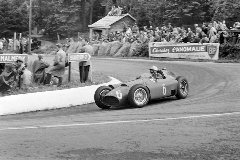 Frere takes the hairpin in his Ferrari D50