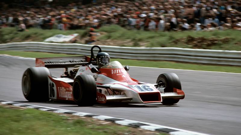 Hans-Joachim Stuck in the Shadow DN9 at the 1978 British Grand Prix at Brands Hatch
