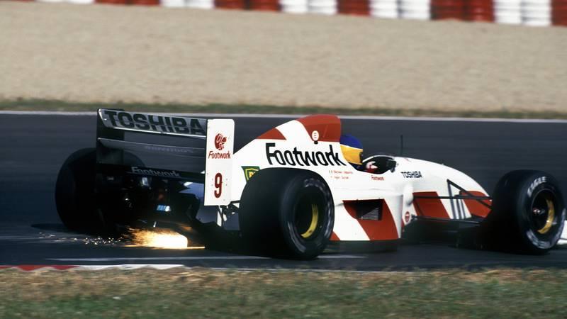Michele Alboreto driving the Arrows Footwork-Mugen in the 1992 F1 Hungarian Grand Prix