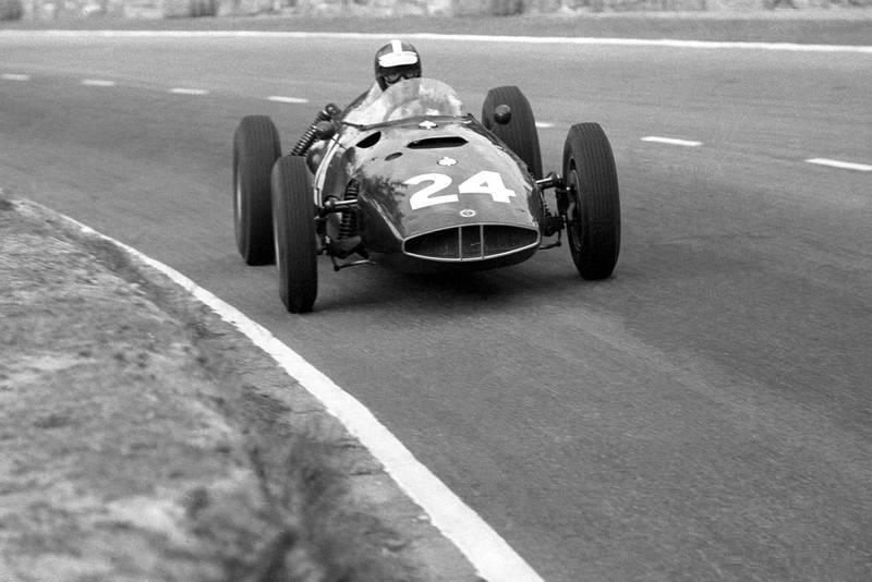 Gurney led for BRM until a engine problem put him out