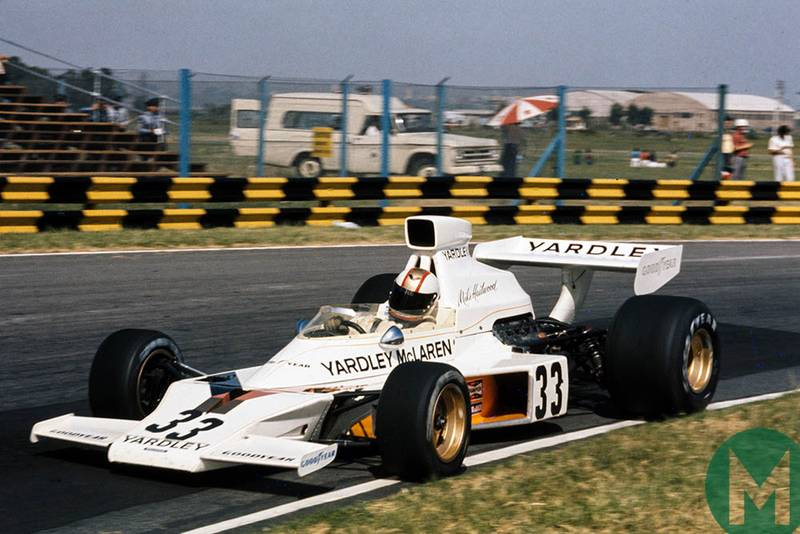 Mike Hailwood in McLaren M23 Ford