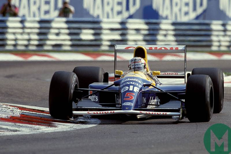 Nigel Mansell in his Williams-Renault at the 1992 Italian GP