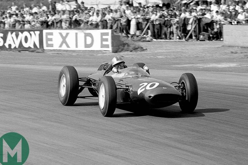 Mike Hailwood makes his Grand Prix debut in a Lotus at the British Grand Prix, Silverstone 1963