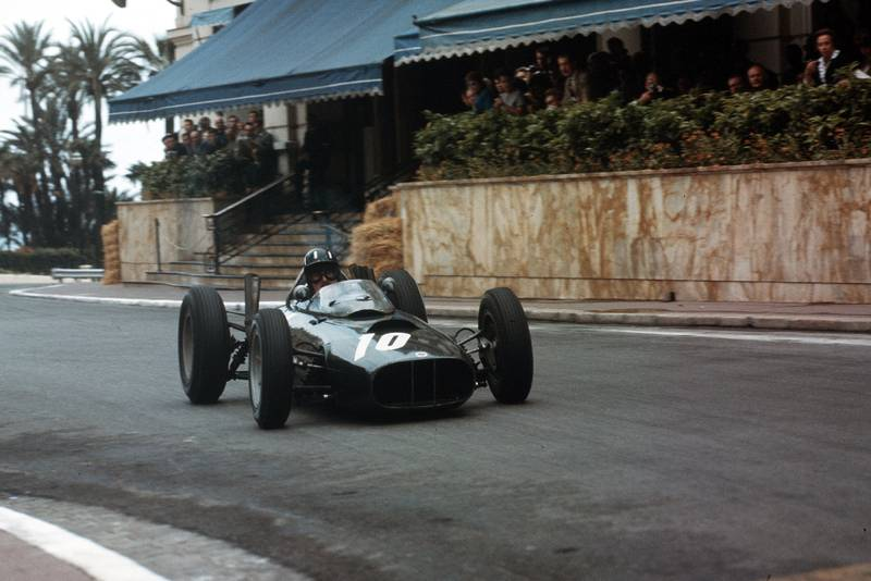 Graham Hull rounds Casino in his BRM