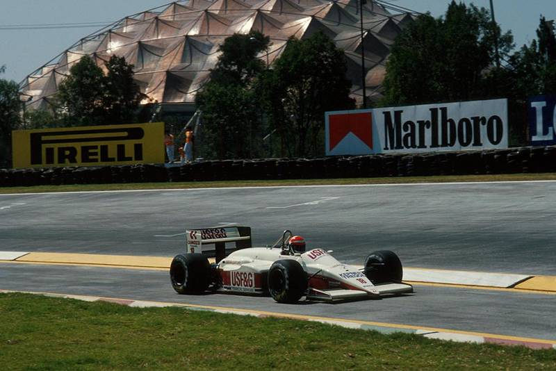 Eddie Cheever finished 4th in his Arrows A10 at the Mexican Grand Prix.