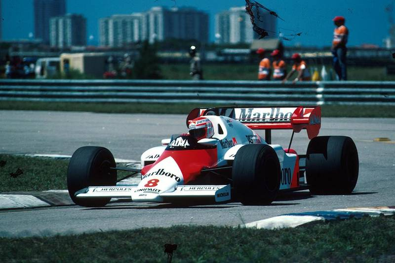 Niki Lauda did not finish in his McLaren MP4/2.