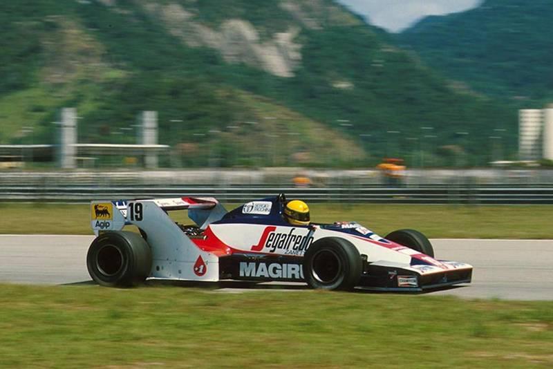 Ayrton Senna in his Toleman TG183B.