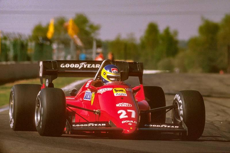 Michele Alboreto in his Ferrari 126C4.