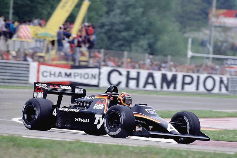 Stefan Bellof in his Tyrrell 012 Ford.