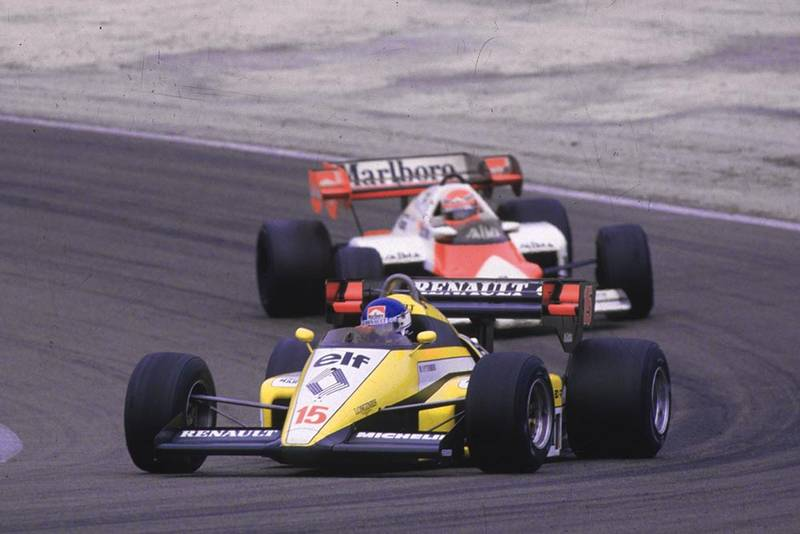 Patrick Tambay in his Renault RE50.