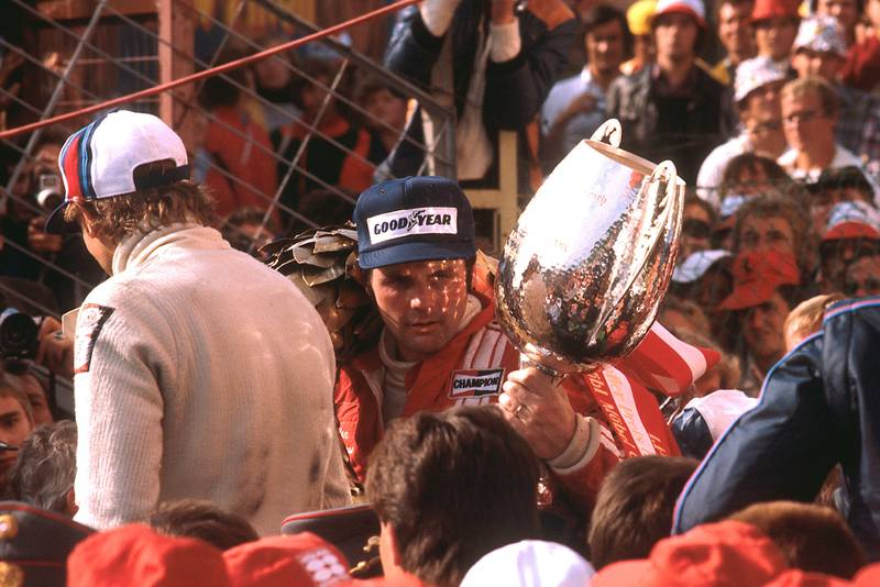 1977 Austrian GP podium 2