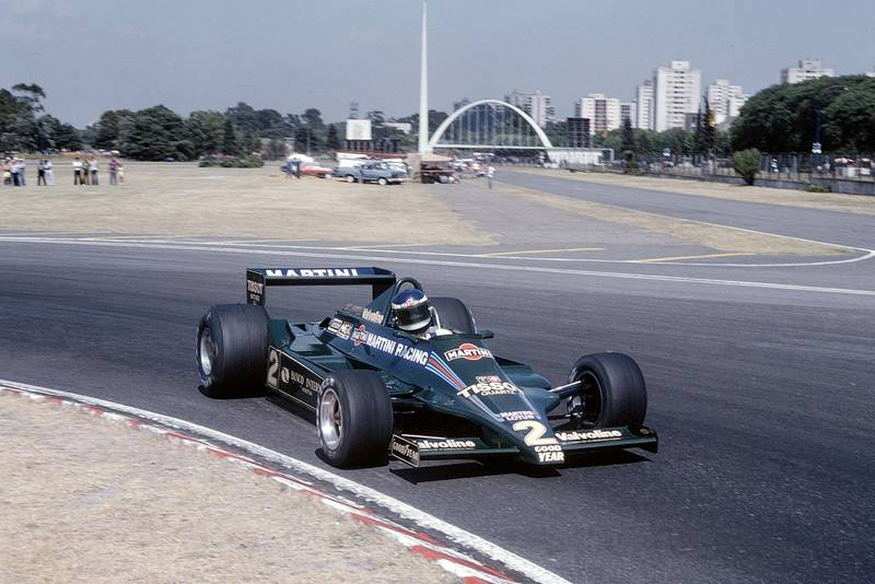 Carlos Reutemann (Lotus) driving at the 1979 Argentine Grand Prix, Buenos Aires.