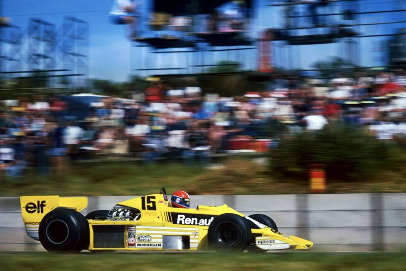 Jean-Pierre Jabouille driving for Renault at the 1979 South African grand Prix, Kyalami