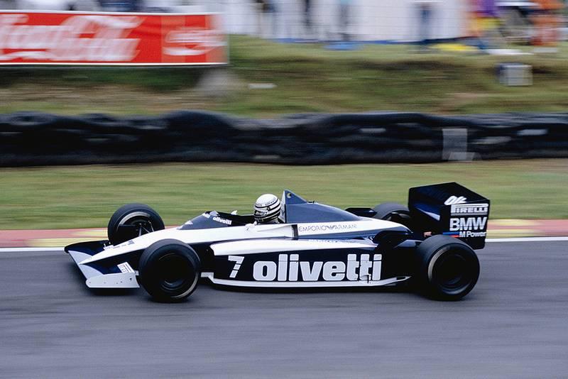 Riccardo Patrese driving a Brabham BT54 BMW.