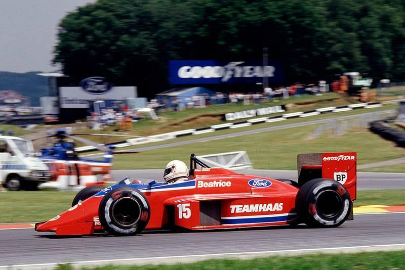 Alan Jones in his Team Haas/Lola THL2 Ford