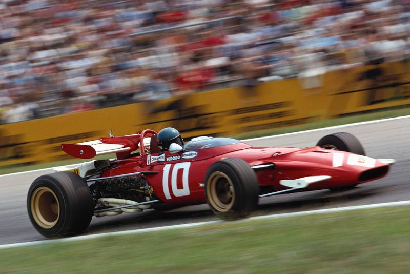 Jacky Ickx driving for Ferrari for the German Grand Prix