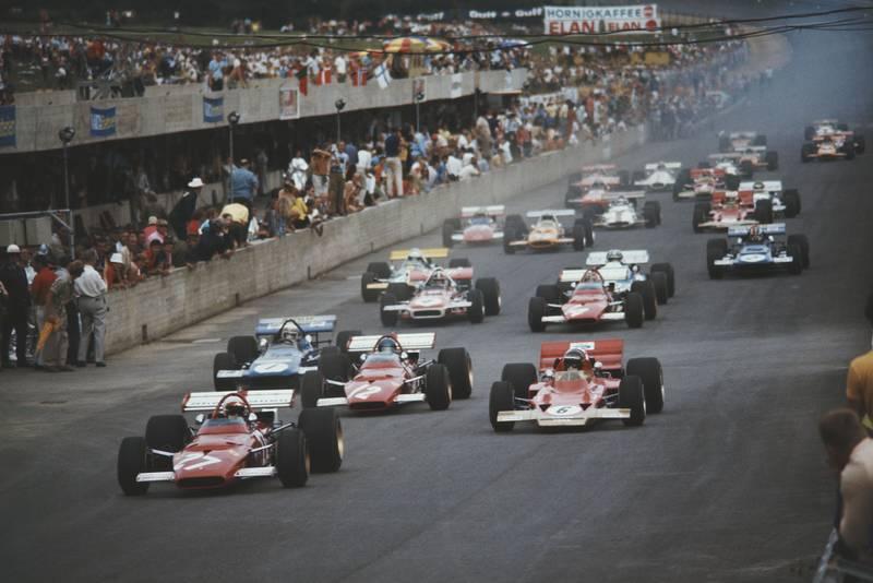 The 1970 Austrian Grand Prix gets underway.