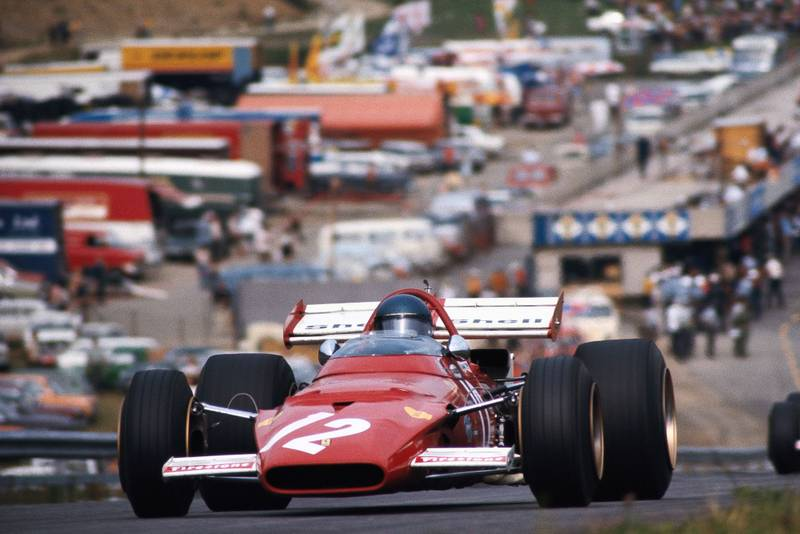Jacky Ickx driving for Ferrari at the 1970 Austrian Grand Prix