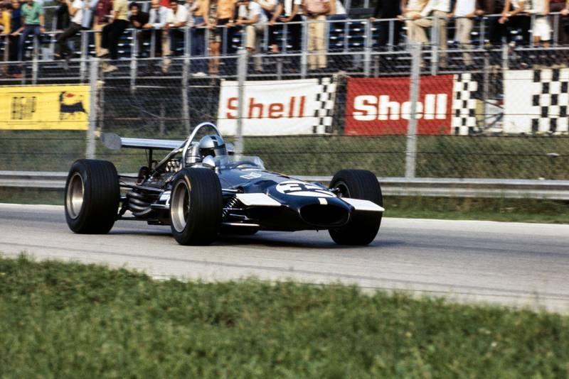 Piers Courage in a Williams-run Brabham at the 1969 Italian Grand Prix